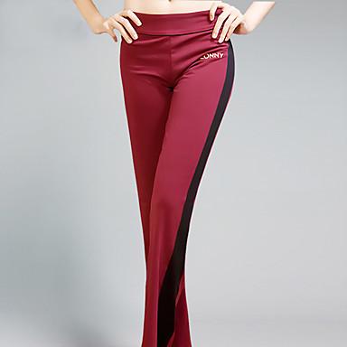 Yoga-Hose Unten Vier-Wege-Stretch Schweißableitend Normal Dehnbar Sportbekleidung Rot Schwarz Blau Damen Yoga Übung & Fitness
