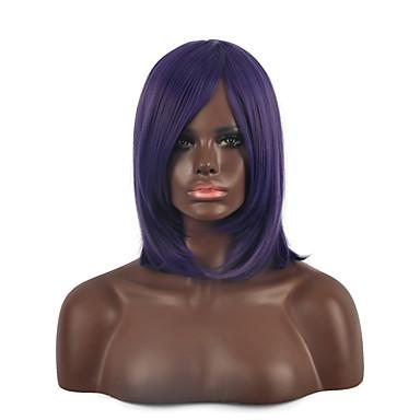 parti perruques synthétiques de populaire milieu droite couleur pourpre femme