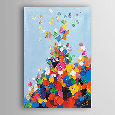 handgemaltes Ölgemälde abstrakten bunten Klumpen mit gestreckten Rahmen 7 Wand ARTS®
