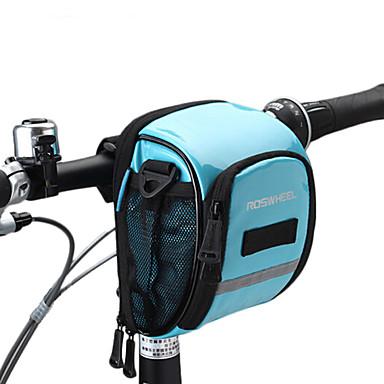 ROSWHEEL Sac de Vélo 1.8L Sacoche de Guidon de Vélo Résistant à l'humidité Zip étanche Vestimentaire Résistant aux Chocs Sac de Cyclisme