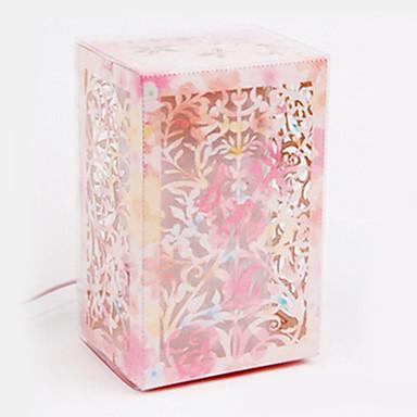 håndlaget papir blomst 3d lampe nattlys