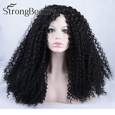 Syntetiske parykker Naturlige bølger Dame Blonde Forside Lang Syntetisk hår