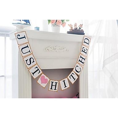 Hochzeit / Jahrestag / Verlobung / Brautparty Hartkartonpapier Hochzeits-Dekorationen Strand / Garten / Blumen Winter Frühling Sommer