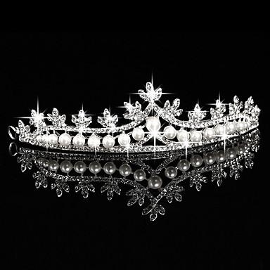 Künstliche Perle Strass Aleación Tiaras Kopfbedeckung with Blumig 1pc Hochzeit Besondere Anlässe Draussen Kopfschmuck