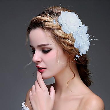 Dame Stoff Hodeplagg-Bryllup Spesiell Leilighet Blomster 1 Deler
