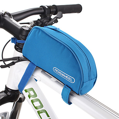 ROSWHEEL Bolsa de Bicicleta 1L Bolsa para Quadro de Bicicleta / Saco de Tubo Superior Á Prova de Humidade / Zíper á Prova-de-Água /