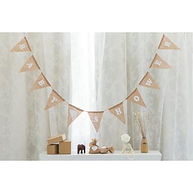 Aniversario / Cumpleaños / Baby Shower Lino Decoraciones de la boda Tema Jardín / Tema Floral / Tema Fantástico Primavera / Verano / Otoño