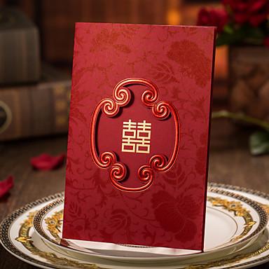 Plis Roulés Invitations de mariage Faire-Parts de Fiançailles Cartes d'invitation Style artistique Papier cartonné