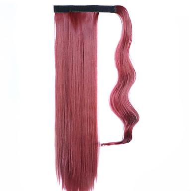 Klassisch Pferdeschwanz Gute Qualität Haarstück Haar-Verlängerung Rot Alltag