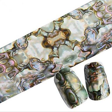1 מסמר תכשיטים קישוטים אחרים קצוות ציפורן מלאה מופשט (אבסטרקטי) סרט מצוייר אופנתי חמוד חתונה יומי איכות גבוהה