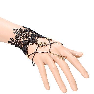 Damen Ring-Armbänder Modisch Einstellbar Spitze Schwarz Schmuck Für Party Alltag Normal 1 Stück