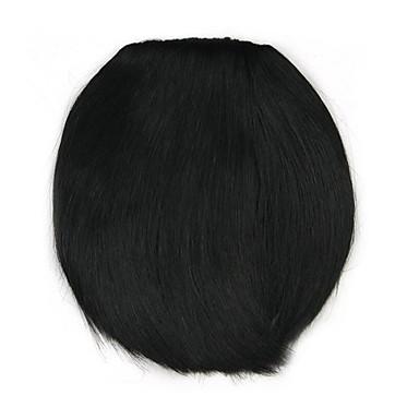 cabelo preto encaracolado Kinky em linha reta humano tece chignons 4010