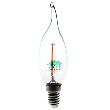 2W 1157 LED Kerzen-Glühbirnen C35 2 COB 180 lumens lm Warmes Weiß Dekorativ AC 220-240 V 1 Stück