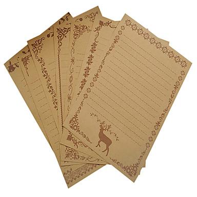 vintage csipke nátronpapír írni készlet (a készlet 8 db véletlenszerű minta)