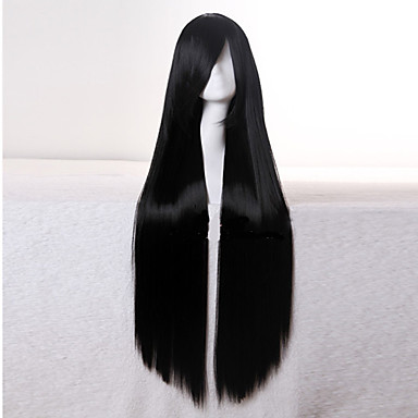 Synthetic Wig Straight Black Women's Capless Carnival Wig Halloween Wig Black Wig Synthetic Hair Daily