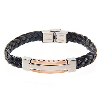 Homme Bracelets Rigides Mode Acier inoxydable Bijoux Pour Quotidien Décontracté 1pc