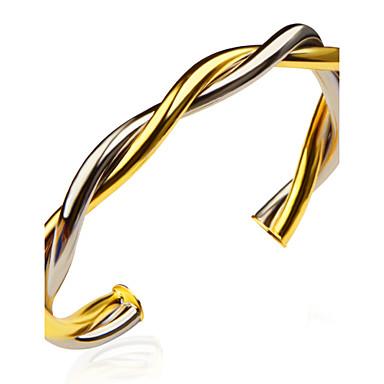 בגדי ריקוד גברים בגדי ריקוד נשים נשים צמידים מצופה כסף ציפוי זהב תכשיטים עבור חתונה Party יומי קזו'אל ספורט