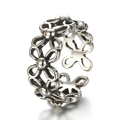 Anéis Fashion / Ajustável Diário / Casual Jóias Prata de Lei Feminino / Masculino Anéis Meio Dedo / Anéis Grossos 1pç,Tamanho Único