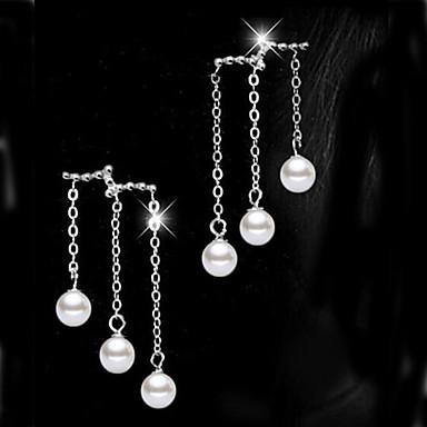 Damen Perle - Niedlich Party Modisch bezaubernd Künstliche Perle Weiß Kreisform Ohrringe Für Party Alltag