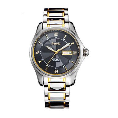 Masculino Relógio de Moda Automático - da corda automáticamente Impermeável Tecido Banda Prata marca