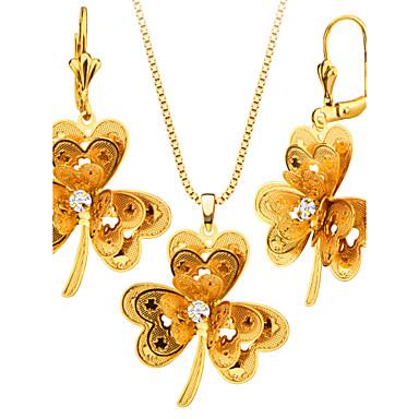 Mujer Conjunto de joyas - Chapado en Oro Flor Moda Incluir Collar / pendientes Para Boda / Fiesta / Pendientes / Collare