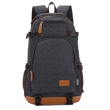 15inch ordinateur portable sac à dos en toile pour les étudiants / bleu Voyage / noir / kaki / café