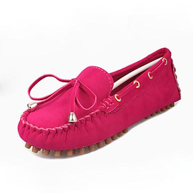 Dames Platte schoenen Comfortabel Fleece Zomer Causaal Comfortabel Strik Platte hak Fuchsia Bruin Groen Blauw Bordeaux 5 - 7 cm