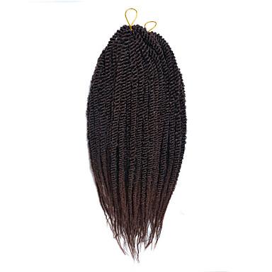 セネガル ツイスト三つ編み ヘアエクステンション 14inch カネカロン 30 ストランド 80g グラム 髪の三つ編み