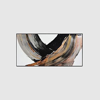 מצויר ביד מופשט מאוזן,מודרני שלושה פנלים בד ציור שמן צבוע-Hang For קישוט הבית