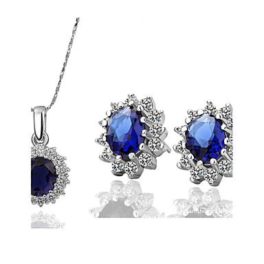 Mujer Cristal Conjunto de joyas - Cristal, Zirconio, Zirconia Cúbica Lujo, Clásico, Moda Incluir Collar / pendientes Para Diario Casual / Pendientes / Collare