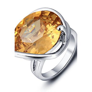 בגדי ריקוד נשים טבעת הטבעת כתום זירקון סגסוגת ריבוע וינטאג' מסיבה יום יומי תכשיטים גדולים אופנתי Party יומי קזו'אל תכשיטי תלבושות