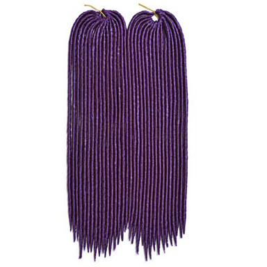 Rød Havana / Heklet dreadlocks Hårforlengelse 14 18 inch Kanekalon 24 Strand 115-125 gram Hair Braids