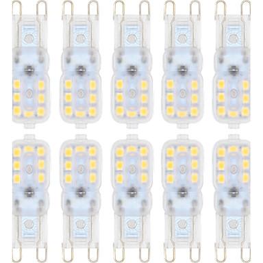 abordables Ampoules électriques-ywxlight® 10pcs g9 2835smd 14led 150-200lm led bi-broches lumières blanc chaud blanc froid led ampoule de lustre lampe ac 220-240 ac 110-130v