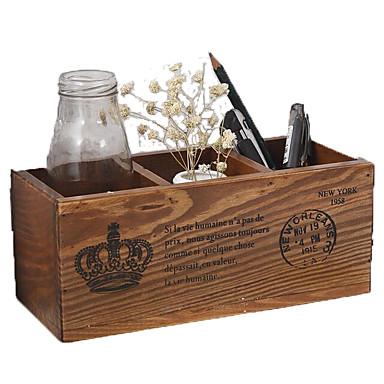 קופסאות אחסון,עץ ארגוני לשולחן