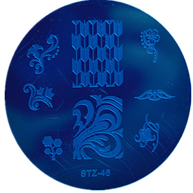 Nail Art Stamping Placa Stamper raspador 5.5*5.5cm