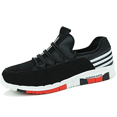 גברים-נעלי ספורט-סינטתישחור כחול-יומיומי ספורט-עקב שטוח
