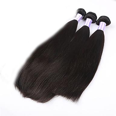 Hiukset kutoo Brasilialainen Straight 3 osainen hiukset kutoo