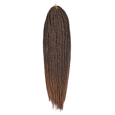צמות טוויסט סנגל Kanekalon Others burgundy 1b / # 27 1b / # 30 1b / # 33 תוספות שיער 14