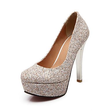 Damen Schuhe maßgeschneiderte Werkstoffe Glanz Frühling Sommer Herbst Winter Pumps High Heels Stöckelabsatz Paillette für Hochzeit Party