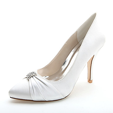 78511eddbf4 Women s Shoes Satin Spring   Summer Formal Shoes Wedding Shoes Stiletto Heel  Pointed Toe Rhinestone Pink   Champagne   Ivory