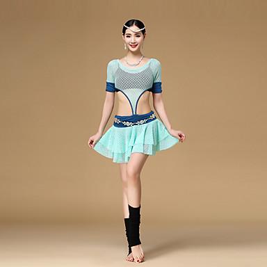 Danse du ventre Robes Femme Entraînement Polyester Modal Au drapée 1 Pièce Manche courte Taille basse Robe