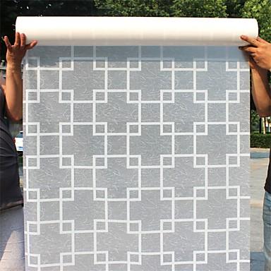 גיאומטרי עכשווי מדבקה לחלון, PVC/Vinyl חוֹמֶר קישוט חלון