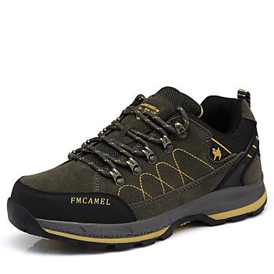 Men's Synthetic / Tulle Spring / Fall Sneakers Dark Hiking Shoes Khaki / Dark Sneakers Green 9af074