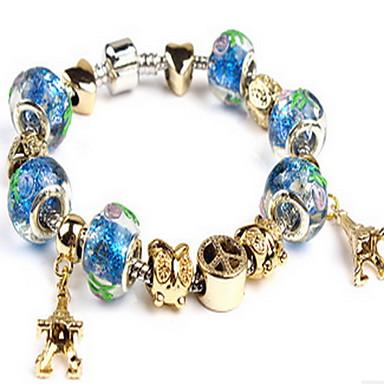 נשים צמידי צ'ארם צמידי Strand אופנתי מקסים סגסוגת Circle Shape תכשיטים עבור יומי קזו'אל
