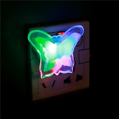 1pc neue Schmetterling Nachtlicht-Lampe schönes Zuhause führte Nachtnachtlicht