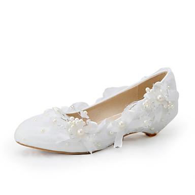 Dámské-Svatební obuv-Na klínu-Lodičky-Svatba   Šaty   Party-Bílá ... 8223979c4f