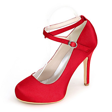 Γάμος Παπούτσια - Γυναικεία - Με Τακούνι / Στρογγυλή Μύτη - Γόβες - Γάμος / Πάρτι & Βραδινή Έξοδος -Μαύρο / Μπλε / Ροζ / Μωβ / Κόκκινο /