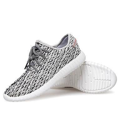 Hombre / Mujer Zapatillas de Running Running A prueba de resbalones, Anti-Shake, Utra ligero (UL) Malla respirante Blanco / Blanco / negro / Listo para vestir