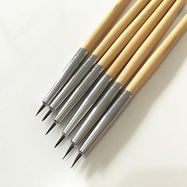 6pcs couleur dessin stylo nail outil d'art mis à ongles