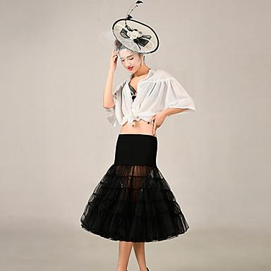 חתונה אירוע מיוחד תחתונית  אקריליק טול באורך ברך סליפ שמלת נשף עם